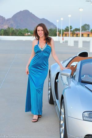 Megan Loxx Redhead Amateur Model In Luxury Sports Car