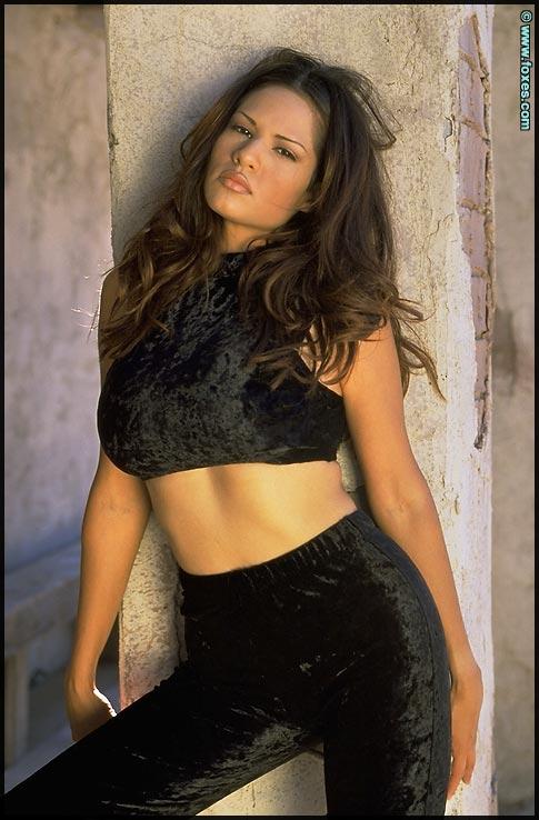 Kristi Curiali Strips in Black Velvet