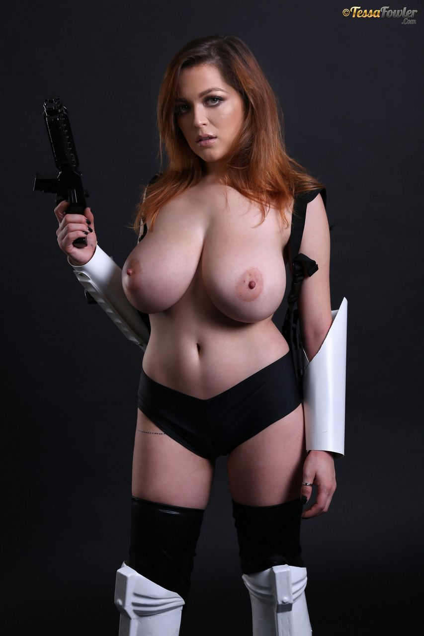 Tessa Fowler is a Busty Storm Trooper