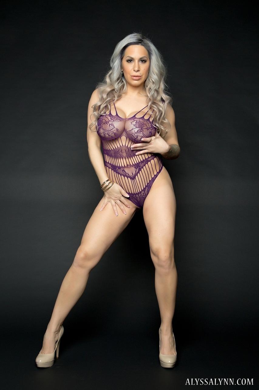 Alyssa Lynn Big Tits Bust Out of Skimpy Lingerie