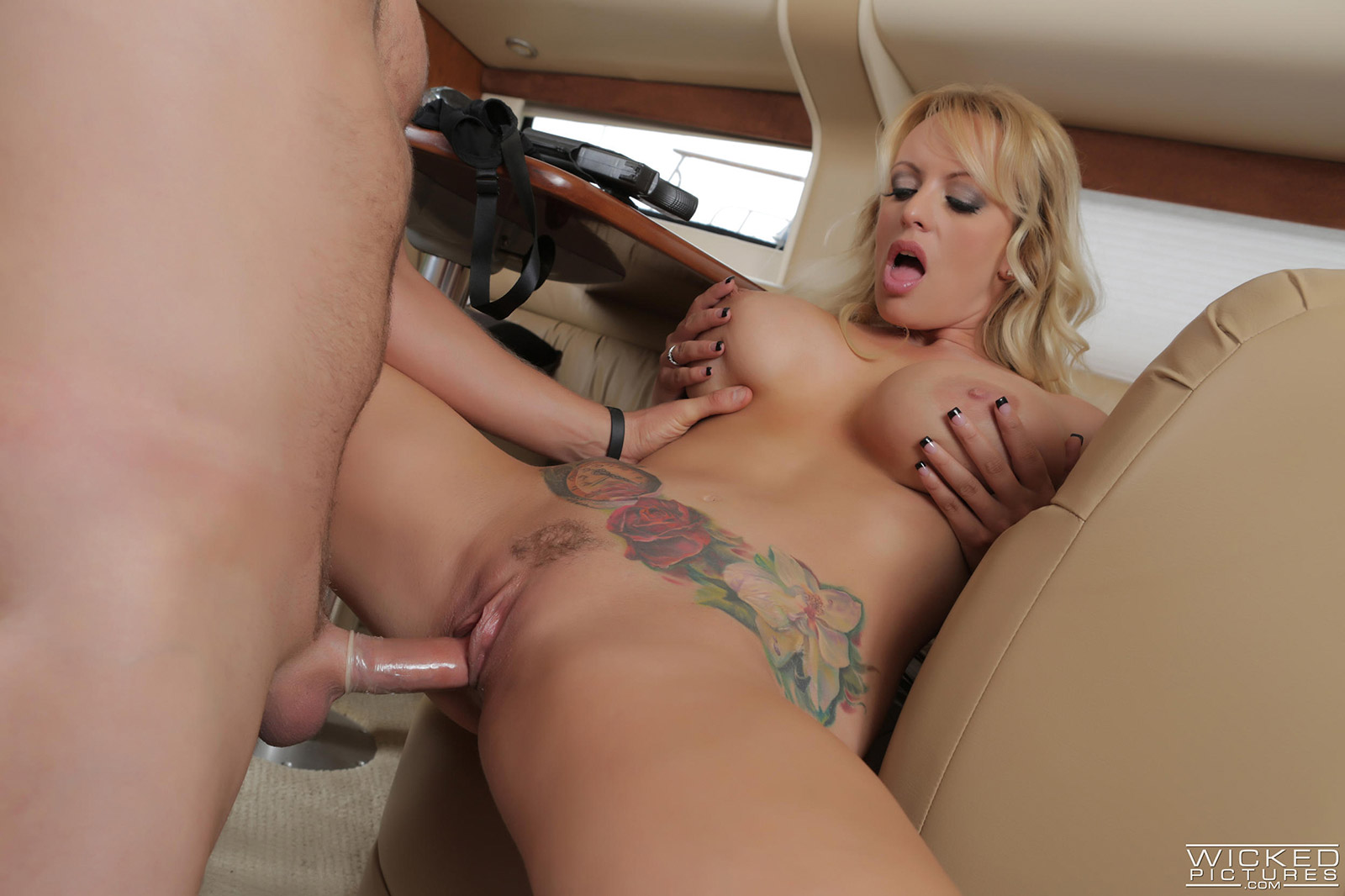 Big dildo riding fuck with busty sexy milf girl 3