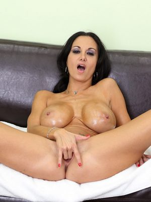 Ava Addams Oils Up Before Pleasuring her Pussy